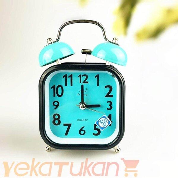 ساعت رومیزی زنگ دار آبی کمرنگ