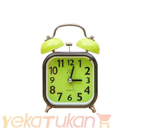 ساعت رومیزی زنگ دار سبز