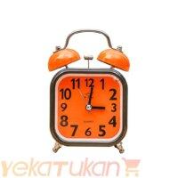 ساعت رومیزی زنگ دار صفحه رنگی مدل مربع