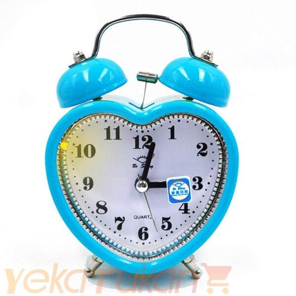 ساعت رومیزی زنگ دار آبی