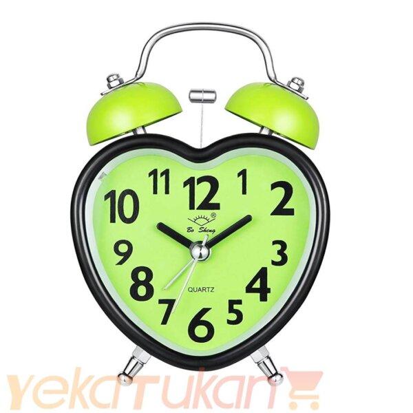 ساعت زنگ دار رومیزی صفحه سبز