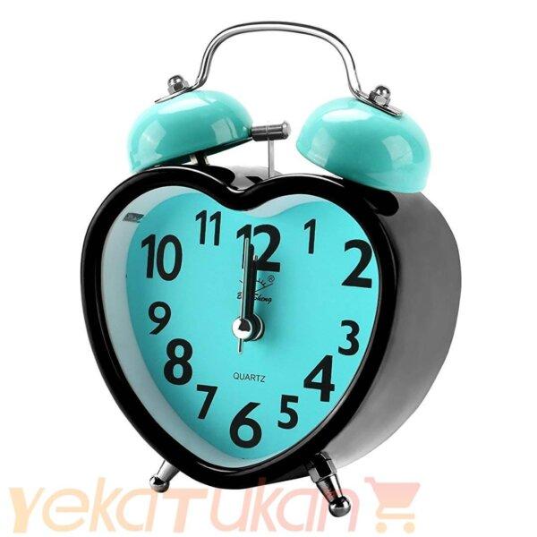 ساعت زنگ دار رومیزی صفحه آبی روشن