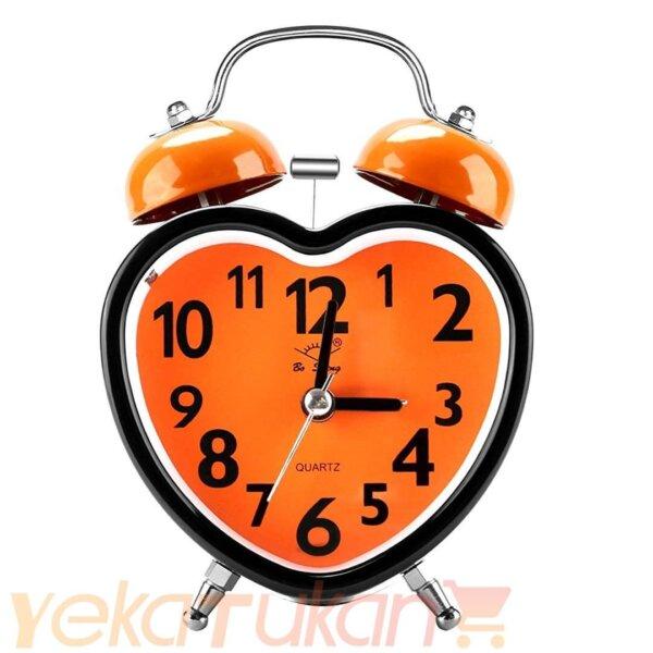 ساعت زنگ دار رومیزی صفحه نارنجی